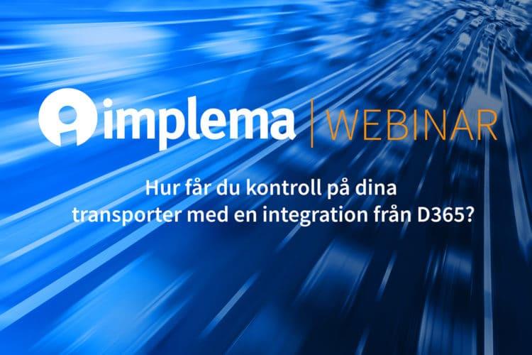 Implema Unifaun Webinar TMS