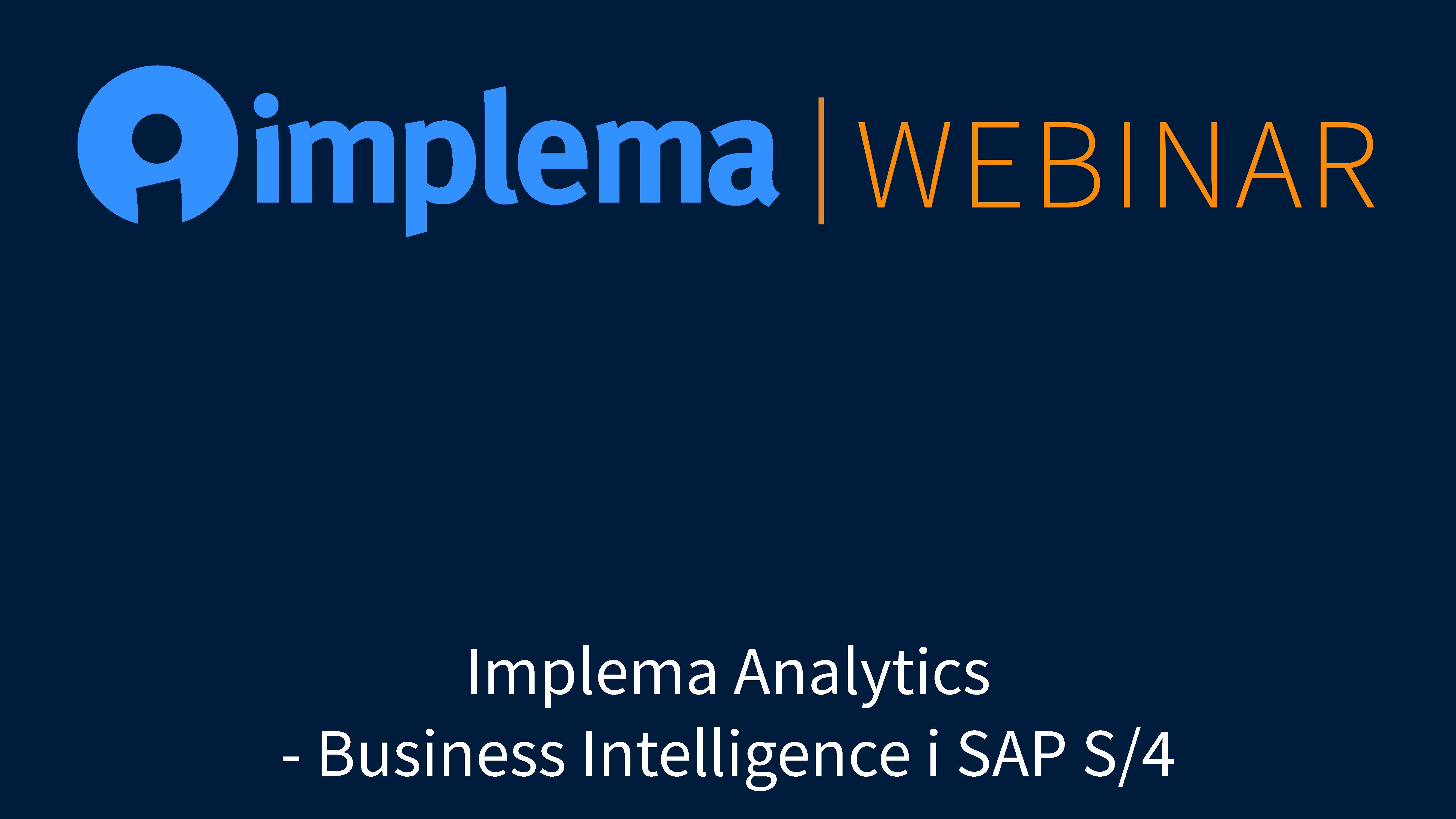 Business Intelligence i SAP S/4