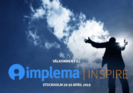Arets Affarssystemevent Implema Inspire 19–20 April 2018