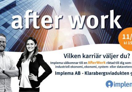 Implema Bjuder In Till Afterwork For Studenter