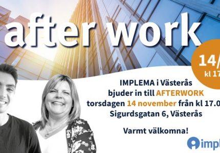 Implema Bjuder In Till Afterwork I Vasteras